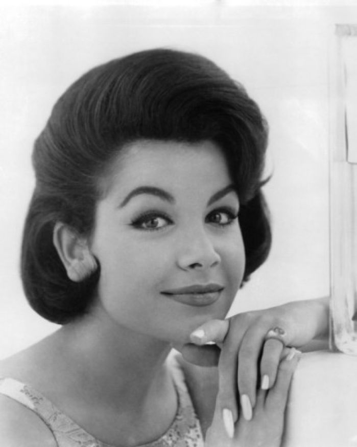 """Annette Funicello, the dark-haired darling of TV's """"The Mickey Mouse Club"""" in the 1950s who further cemented her status as a pop-culture icon in the '60s by teaming with Frankie"""