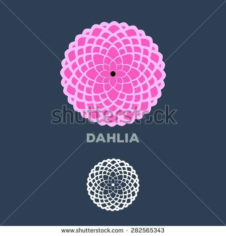 Dahlia Flower Logo Vector Flower Logo Dahlia Flower Vector Logo