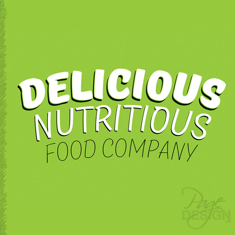 Logo design for Delicious Nutritious Food Company, New