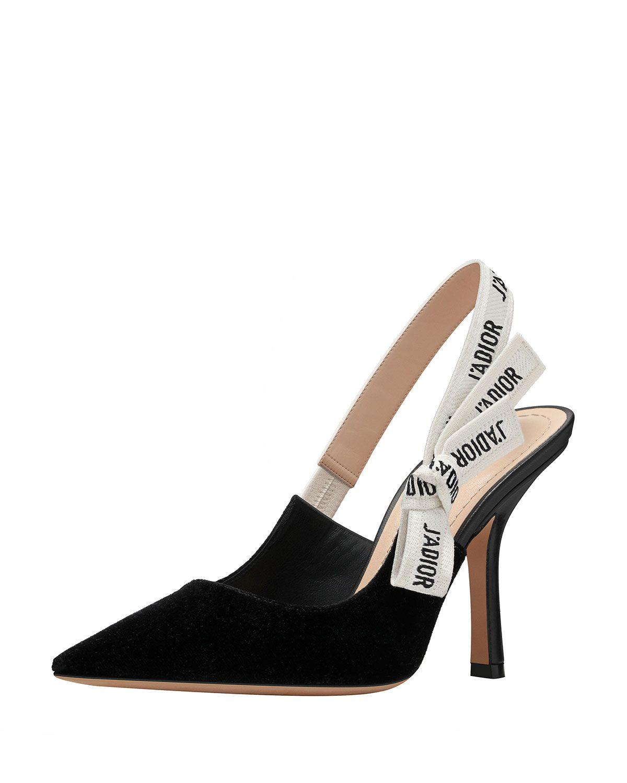 Dior Jadior Velvet Slingback Pump Black Dior Shoes Heels Slingback Pump