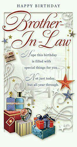 Brother in Law Birthday Card Happy Birthday Watch Presents & Stars x