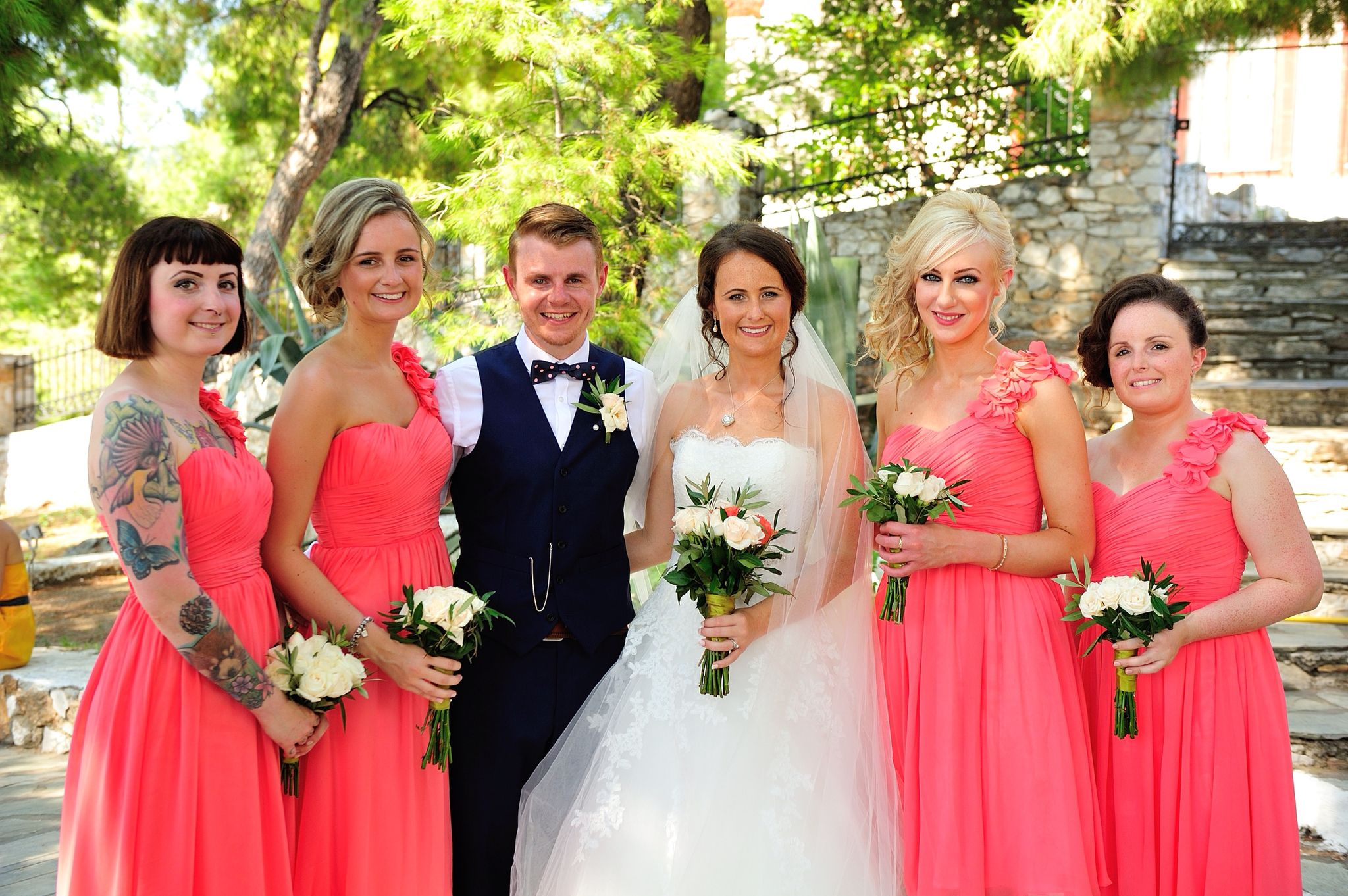 Bridesmaids! Skiathos, Greece wedding