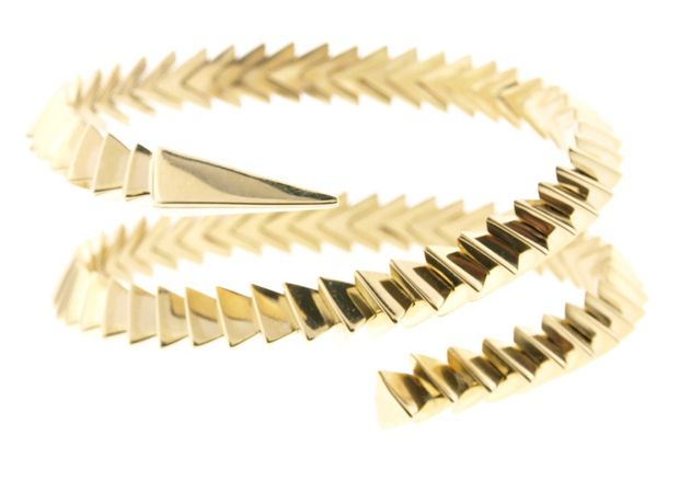 Snake coil bracelet in 18k gold, $30,000; Luis Morais at Couture, Muse Showroom booth No. 838