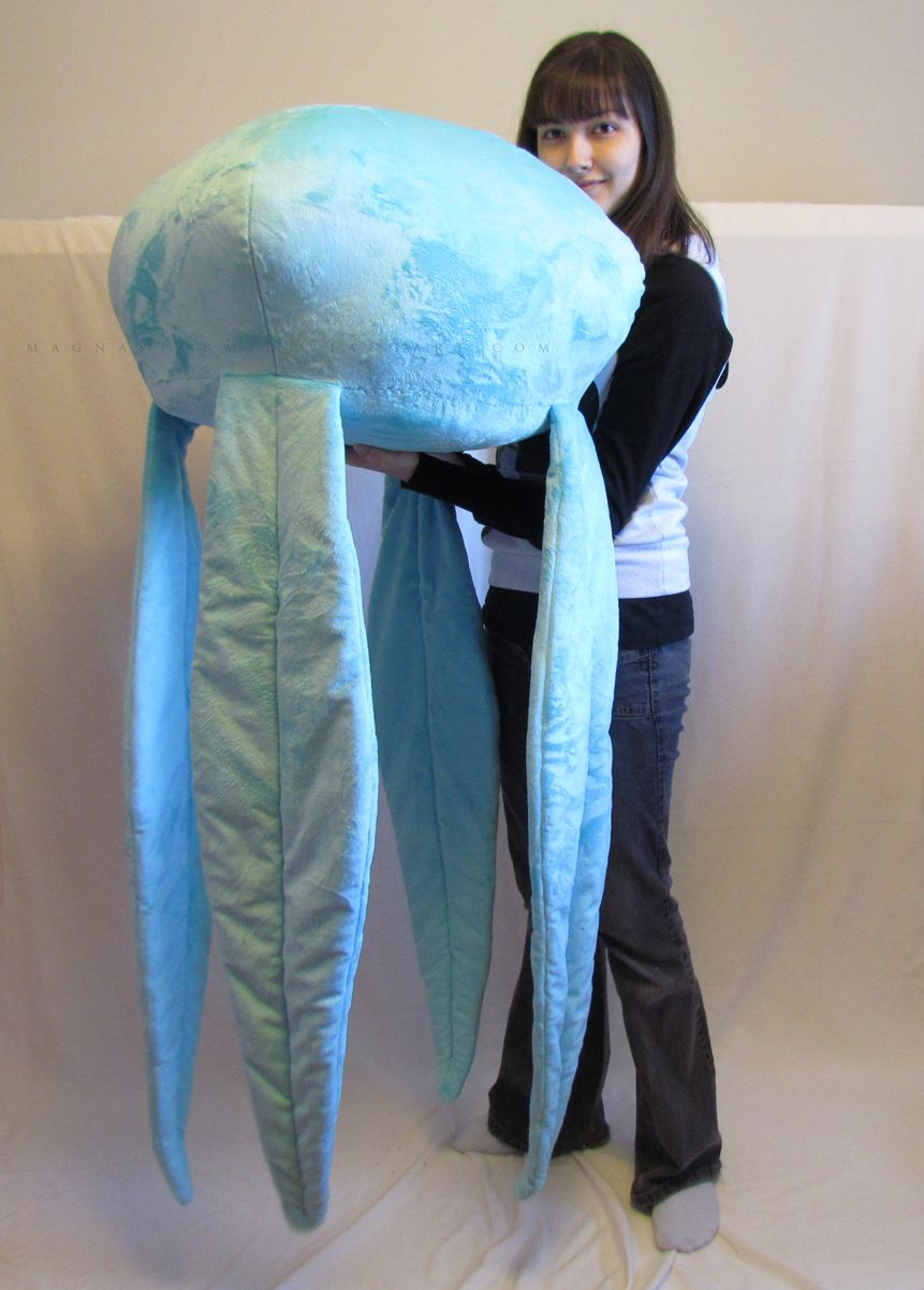 Giant Moon Jellyfish By Magnastorm Artisan Crafts Plushies And