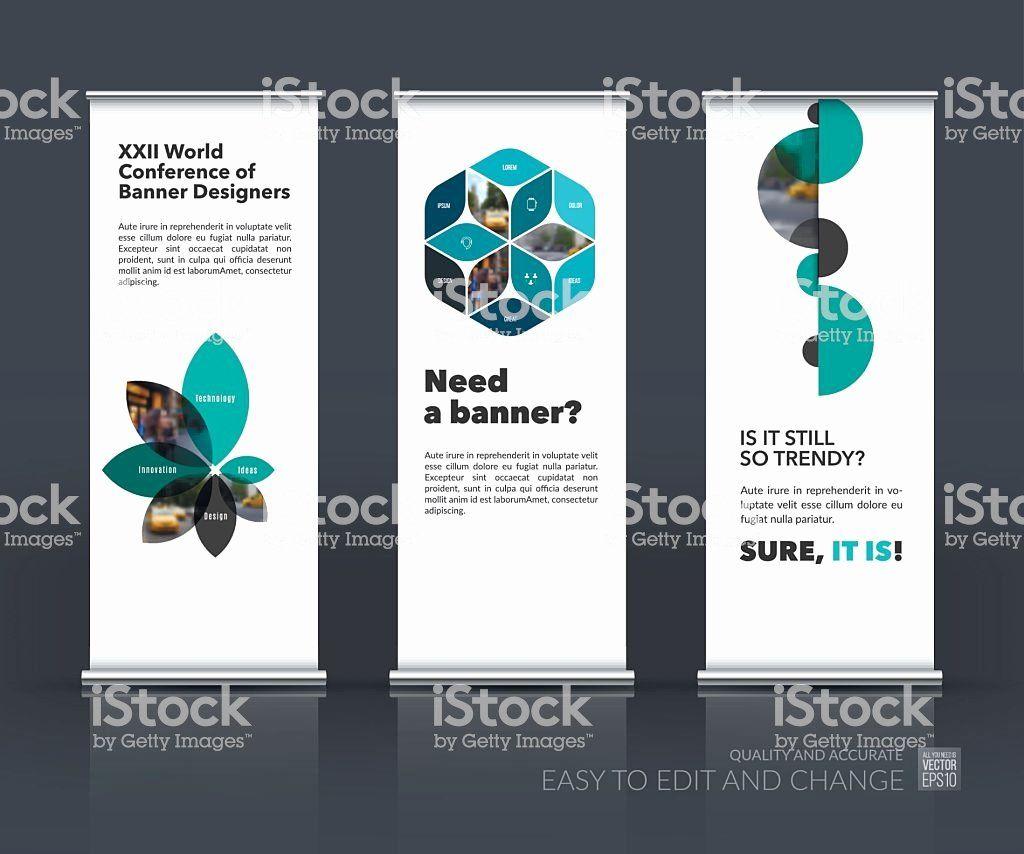 Roll Up Banner Design Luxury Vector Set Modern Roll Up Banner Stand Design With Stock Vector Art Standing Banner Design Banner Design Banner