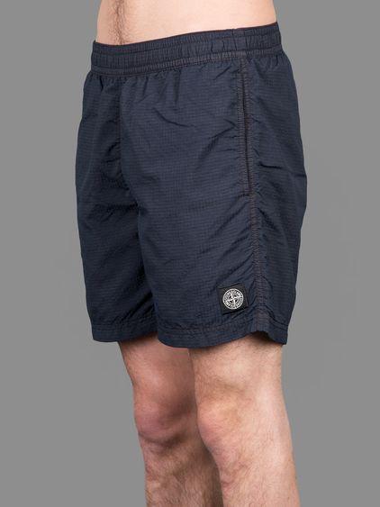 Stone Island ripo stop nylon swim shorts with elasticated waistband #stoneisland