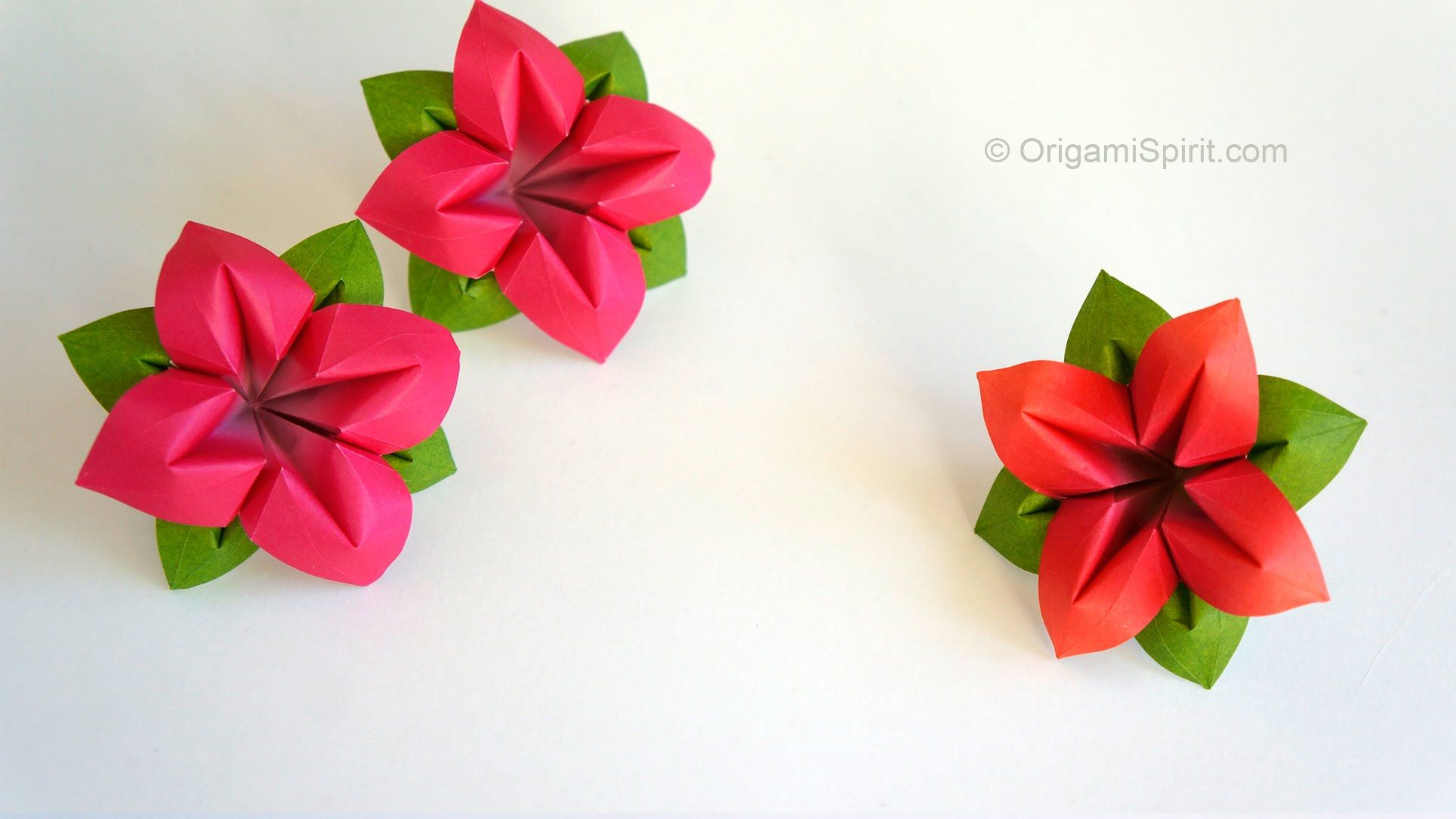 How To Make An Origami Flower And Leaves Perfect For A Bouquet Haz
