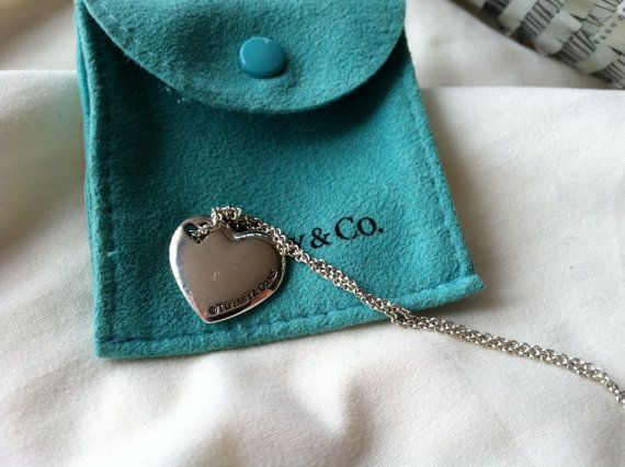 Retired Authentic Tiffany & Co. Heart In Heart Double Heart Necklace Silver 925 RARE AUTHENTIC