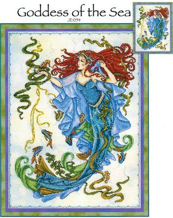 Goddess Of The Sea - Cross Stitch Pattern-A Joan Elliot design about to start her.. so pretty