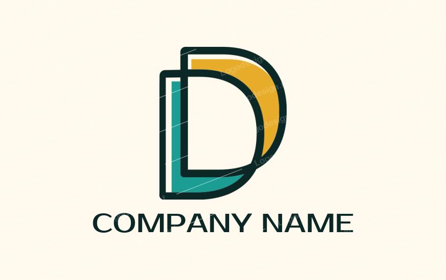 Line Art Letter D Lettering Letter Logo Design Letter D
