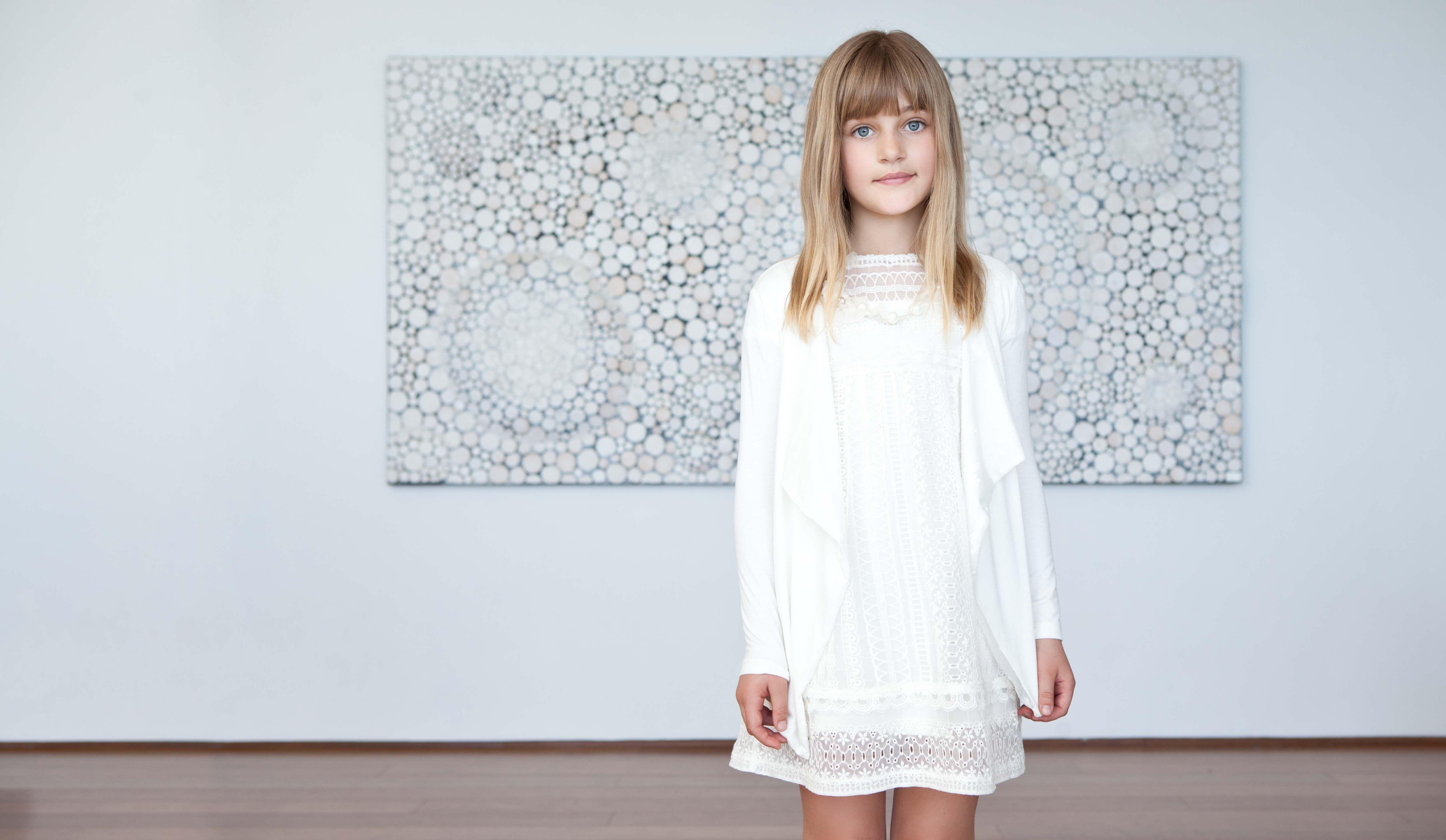 official photos 116d2 2c41f Elsy Baby Abiti bianchi, vestitini soffici e leggeri per la ...