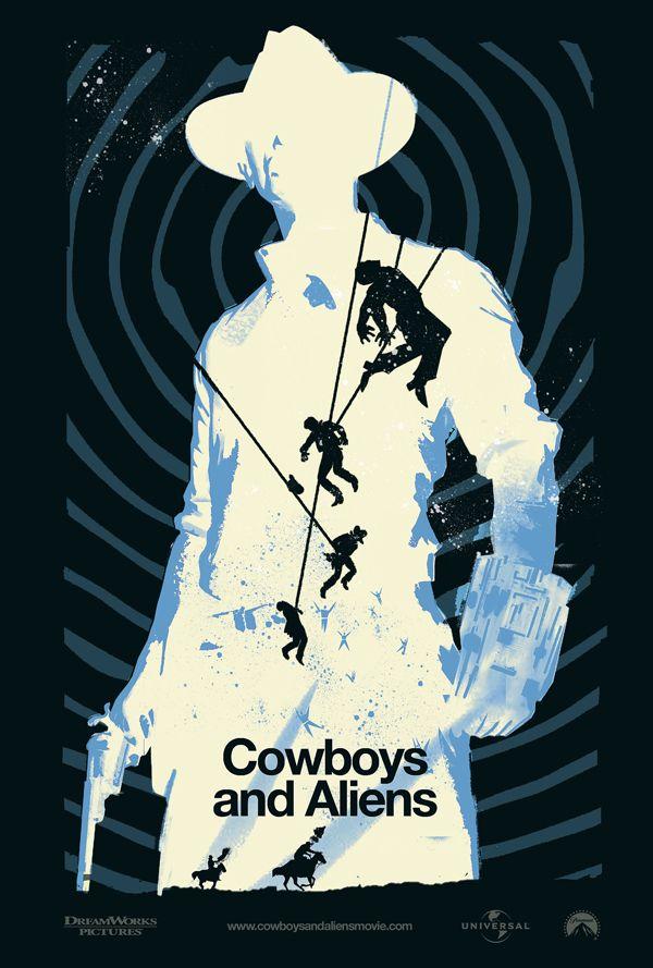 Cowboys Aliens 2011 Cowboys Aliens Poster Art Movie Posters Design