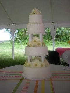Anna S Confections Blo Daisy Wedding Cake Newark Oh