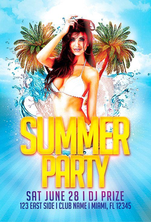 Free Summer Beach Party Template  HttpFreepsdflyerComFree