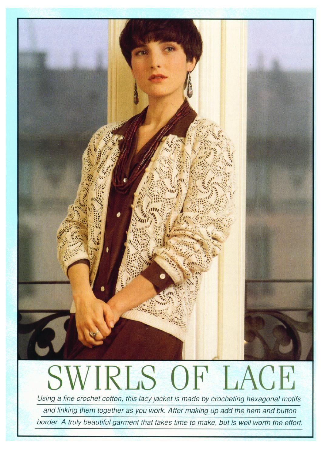Crochet swirls of lace [jacket]