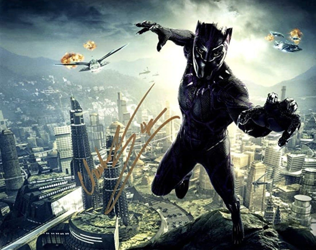 New Giclee Art Print Of Autographed Chadwick Boseman The Etsy In 2021 Black Panther Marvel Black Panther Black Panther 2018