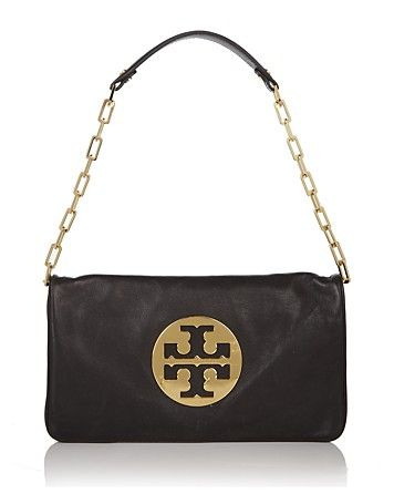 9f58b8a5ccce Tory Burch Reva Leather Clutch - Best Sellers - Boutiques - Handbags -  Bloomingdale s - Black   Gold