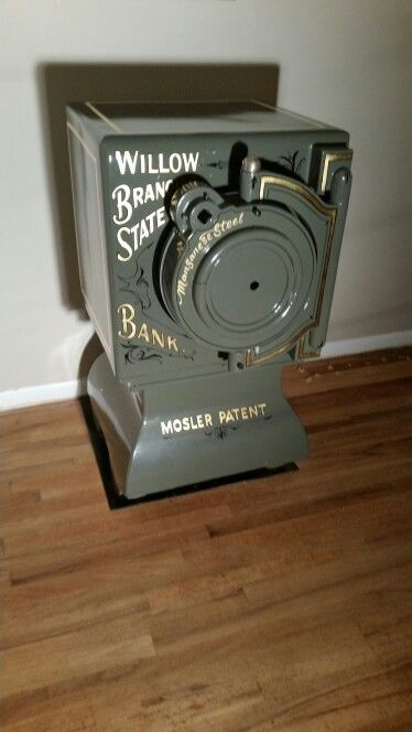 Art Work Back On Mosler Bankers Screw Door Safe Antique Safe
