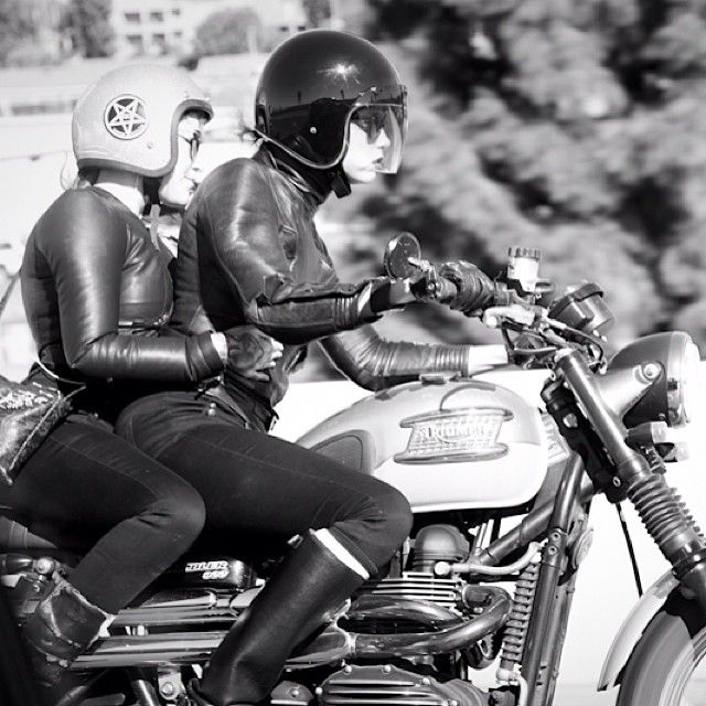 @Tamara Walker Walker Walker Walker Beaver and friend taking the Triumph out for a ride