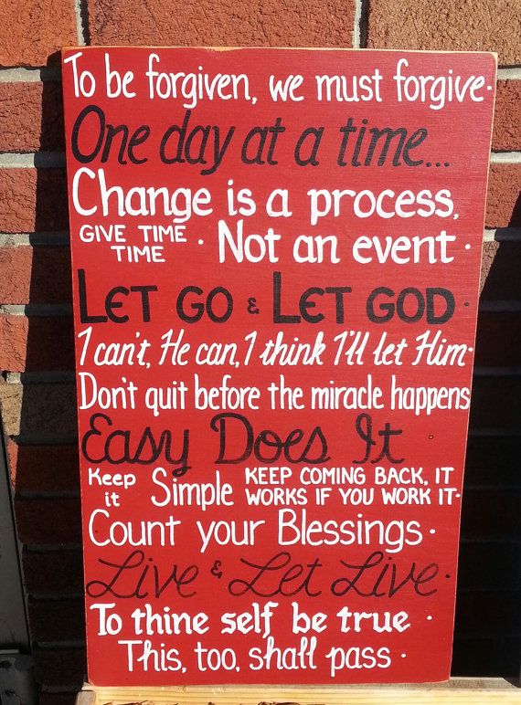 Aa Quotes Serenity Prayer Inspirational Sign One Day At A Time