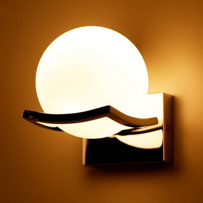 Bathroom waterproof wall lamp modern simple lamp hallway garden lamp cheap wall lamp modern buy quality wall lamp directly from china lamp modern suppliers waterproof alloy toilet wall lamp modern white round ball shape aloadofball Image collections