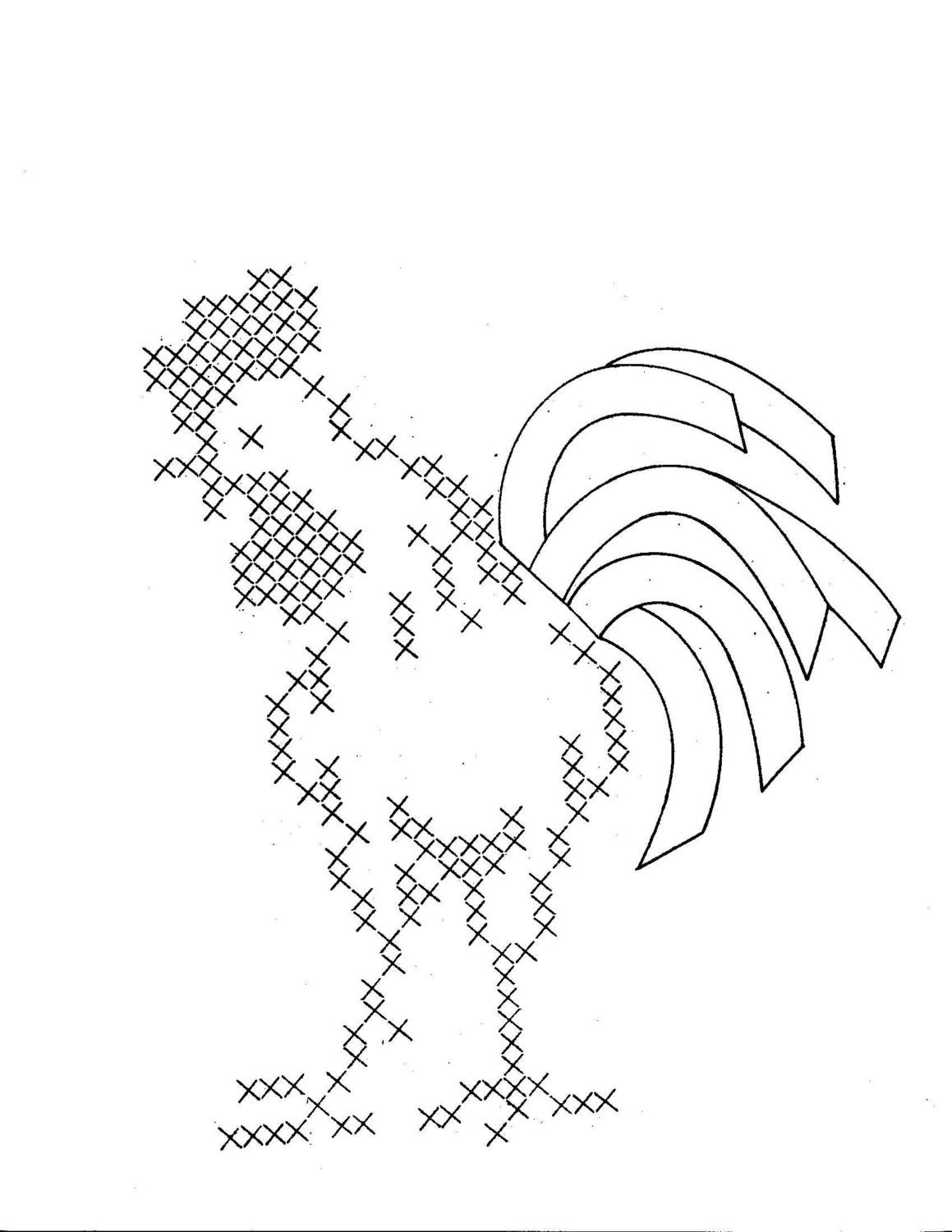 Hand embroidery pattern design 615 roosters for by blondiesspot hand embroidery pattern design 615 roosters for by blondiesspot bankloansurffo Choice Image