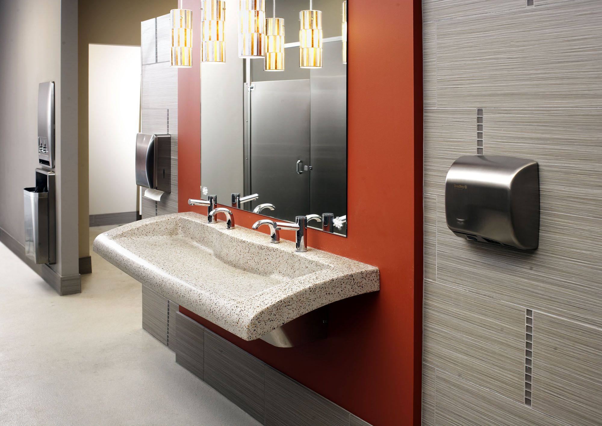 Keep office restrooms efficient with the Verge Lavatory System  Diplomat  accessories  and Mills Stainless. Keep office restrooms efficient with the Verge Lavatory System
