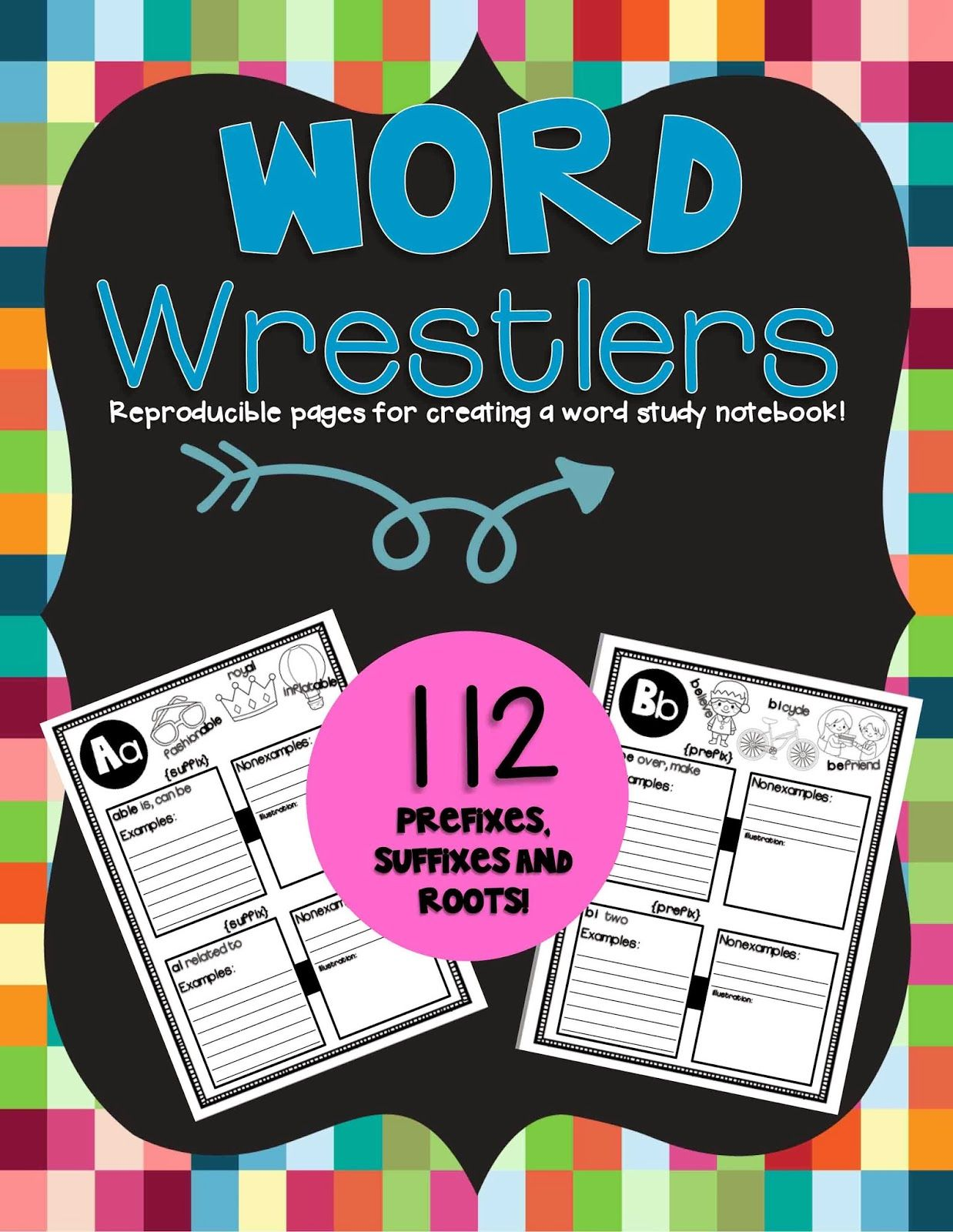 The Teaching Reef: Word Wrestlers! My newest unit, creating a word study notebook!