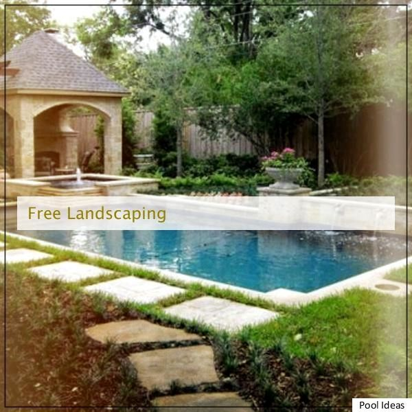 Top Useful Inexpensive Pool Hints, backyard pool landscaping ideas