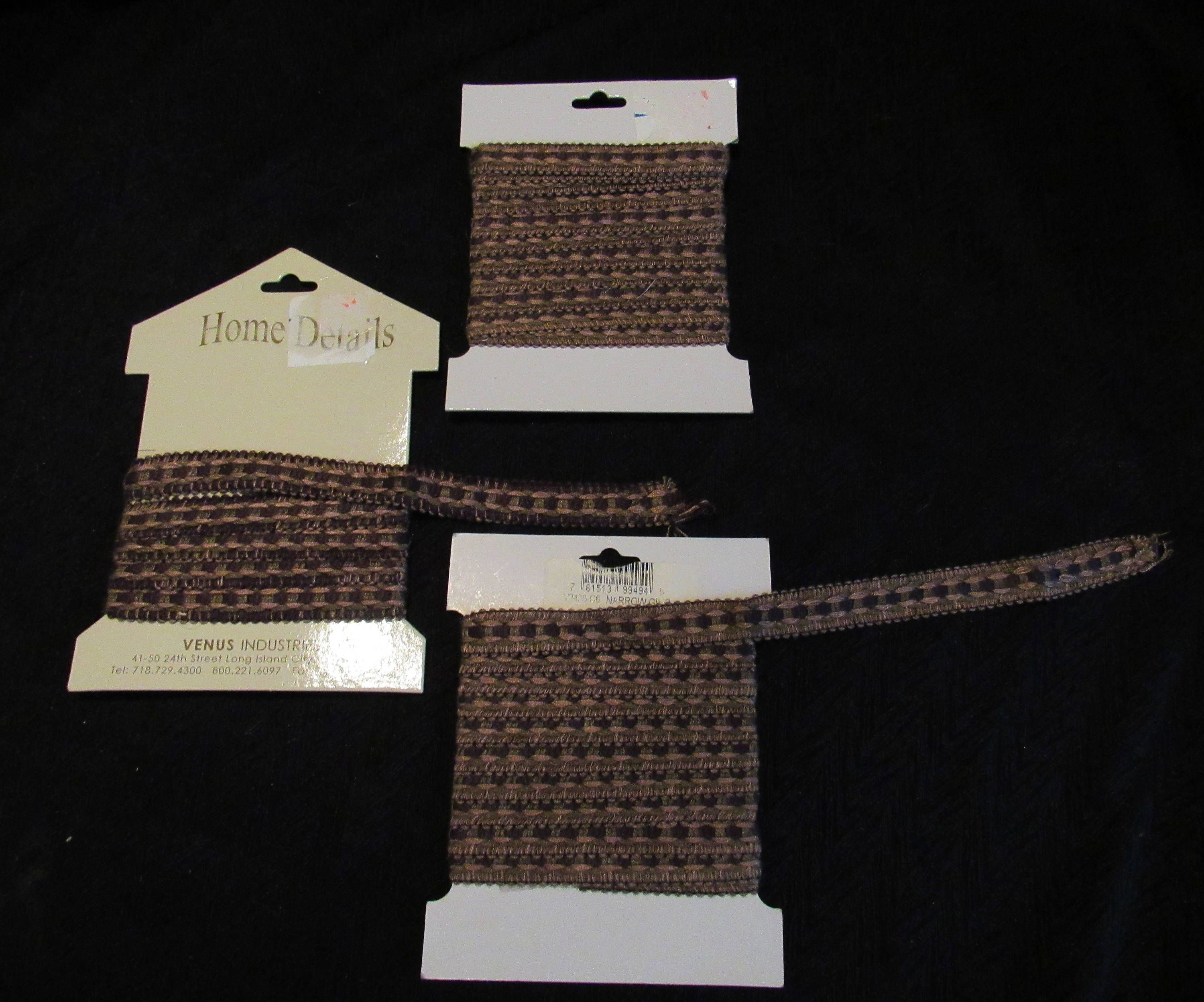 Brown Gimp Trim Upholstery Pillows Curtains Sewing Fabric