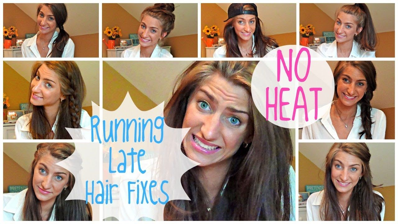 running late hairstyles!! so quick & easy! no heat | hair