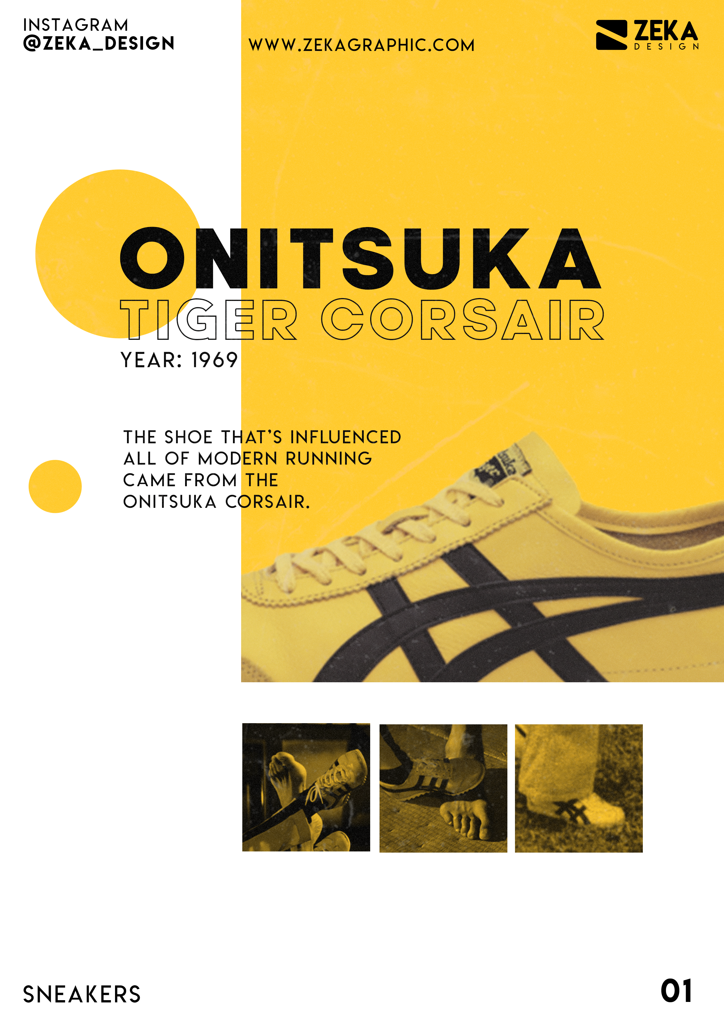Sneakers Modern Graphic Design Poster Onitsuka Tiger Corsair Poster Art By Zeka In 2021 Stationery Design Inspiration Minimalist Graphic Design Modern Graphic Design