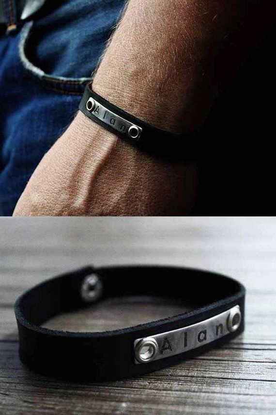 18679af8398f9 Birthday gift for him bracelet for men engraved bracelet man ...