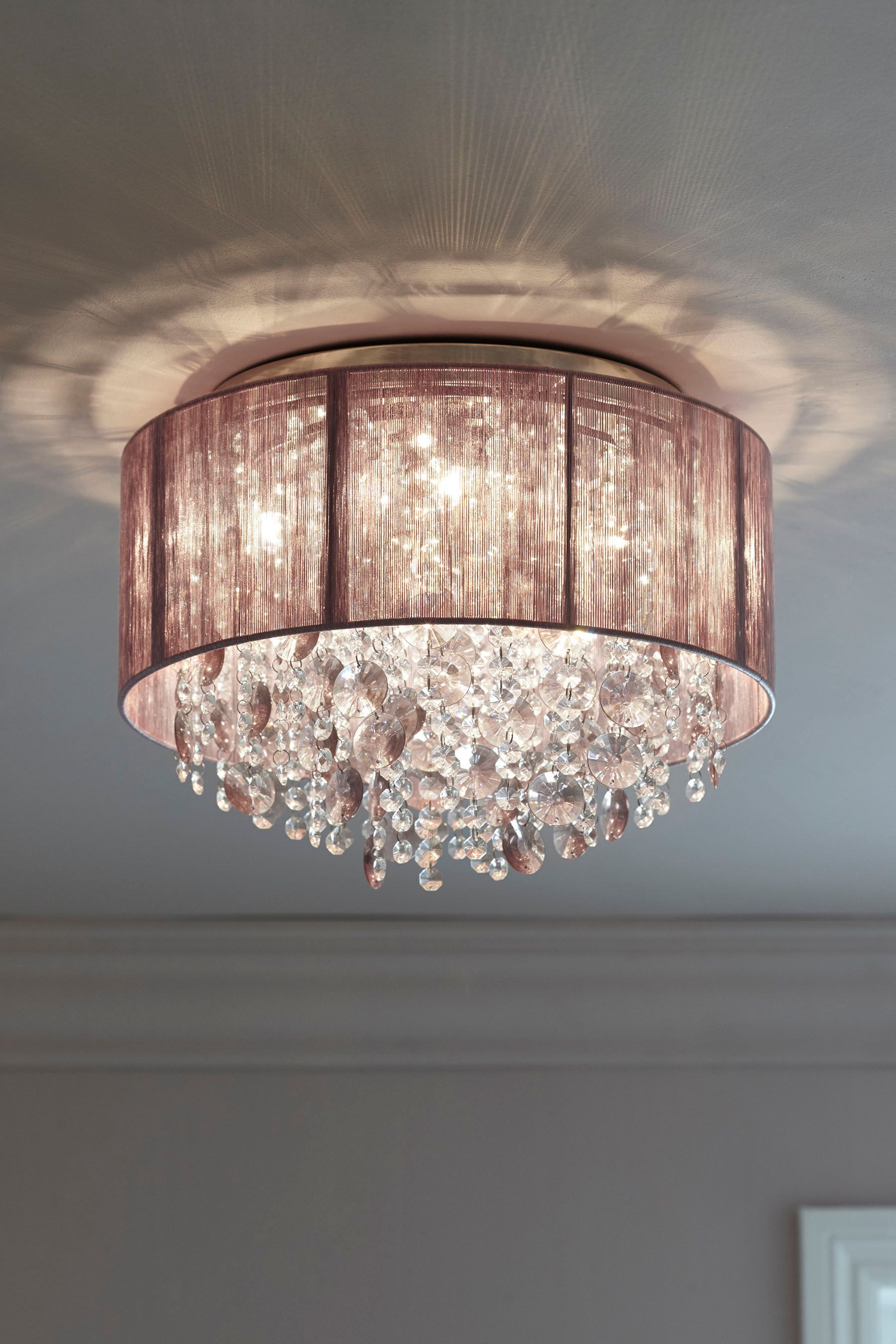 Next Palazzo 4 Light Flush Fitting Purple Ceiling Lights Uk Bedroom Ceiling Light Bedroom Light Fittings