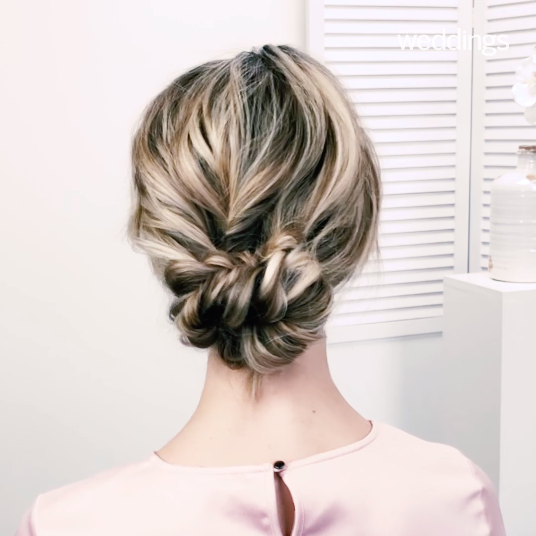 Wedding Hairstyle: Two Braids