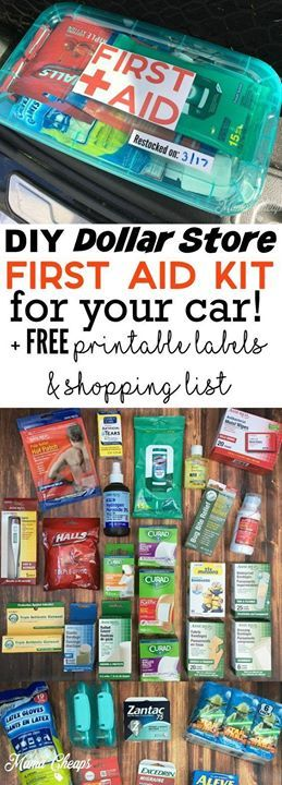 Diy Dollar Store First Aid Kit For Your Car Free Printable Labels