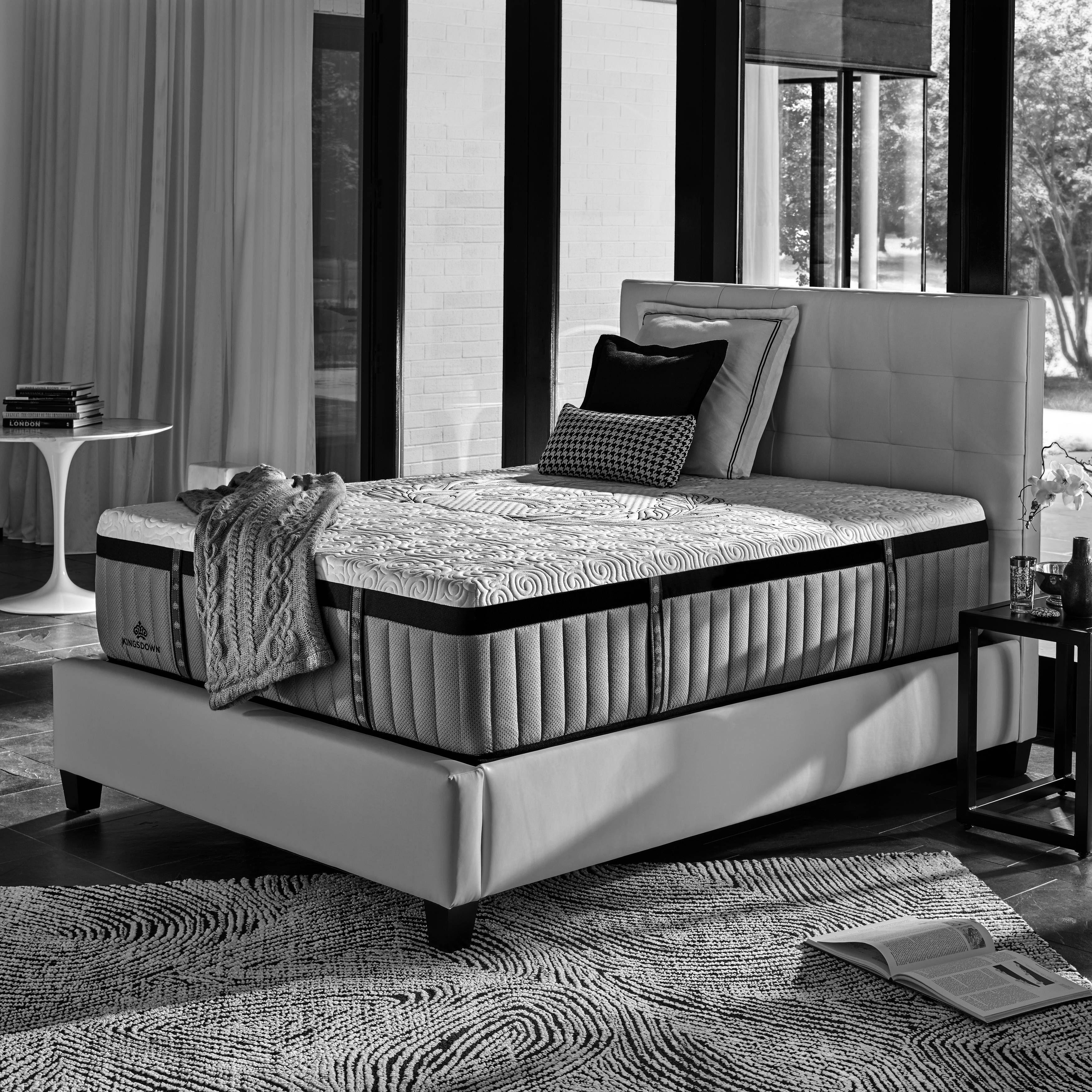 kingsdown crown imperial crest 15 inch king luxury hybrid mattress