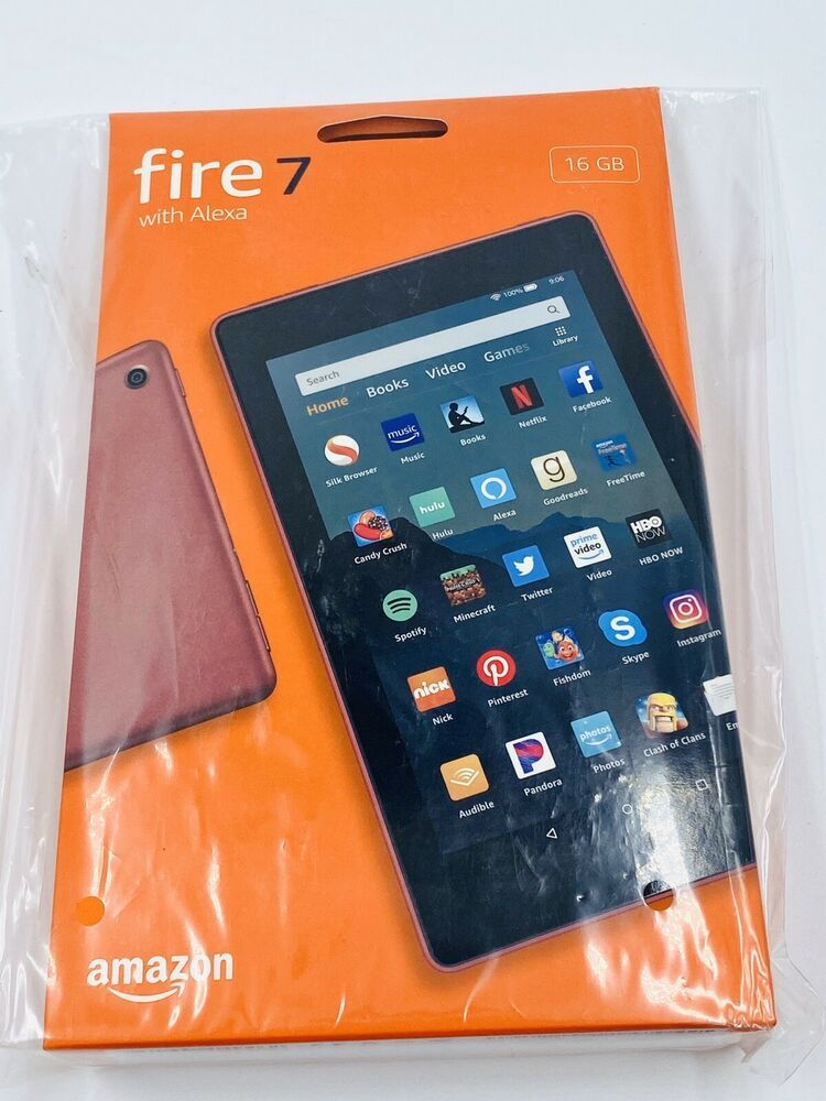 Plum Amazon Fire 7 Tablet With Alexa 7 Display 16 Gb 9th Generation 2019 New Amazon Tablet Kindle Fire Tablet 16gb