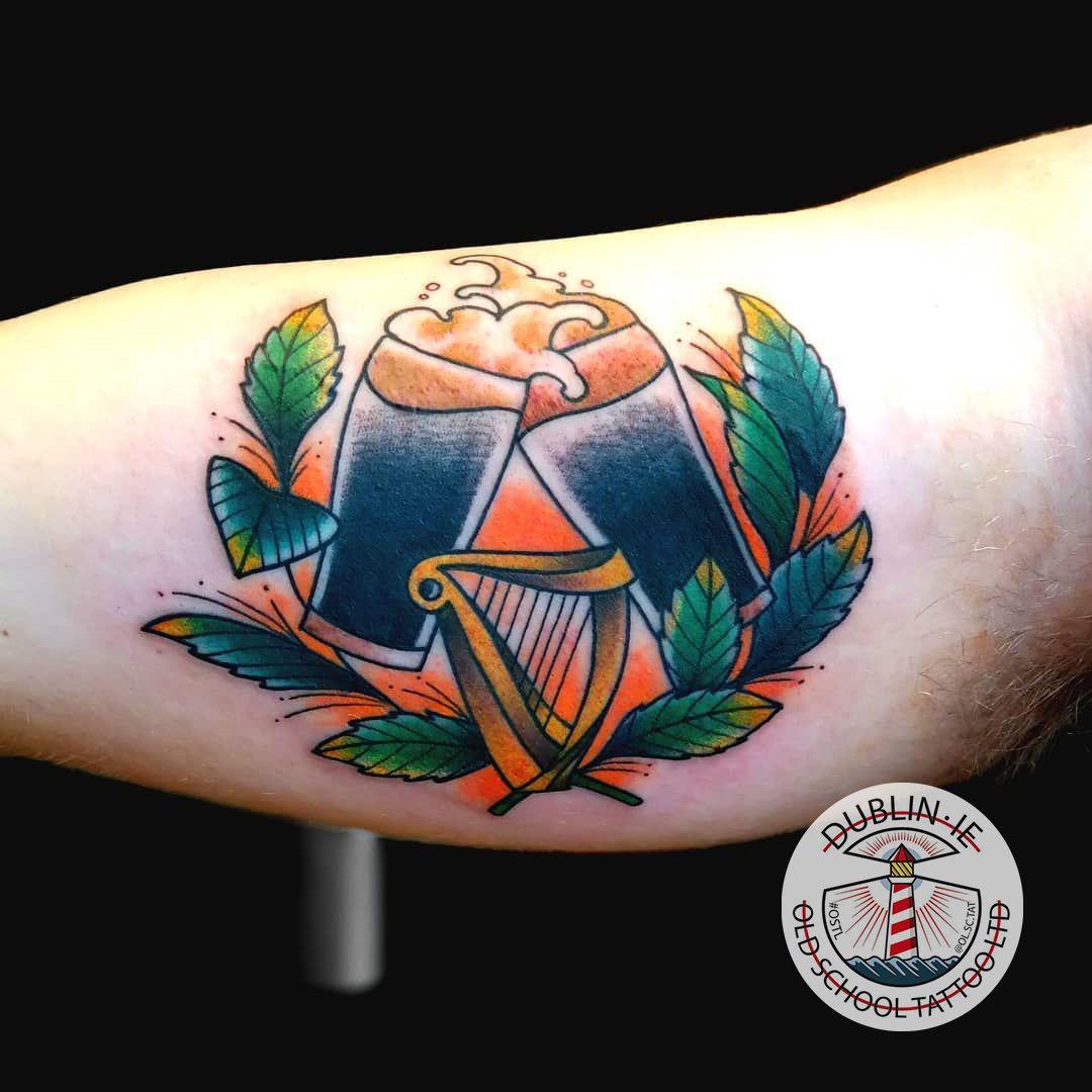 Pint Tattoo Pinttattoo Pint Tattoo Color Colortattoo Innerarmtattoo Oldschool Oldschooltattoo Dublin T Old School Tattoo Tattoo Dublin School Tattoo