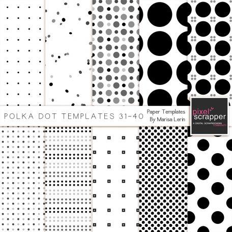 Polka Dot Paper Templates 31-40 by Marisa Lerin Pixel Scrapper