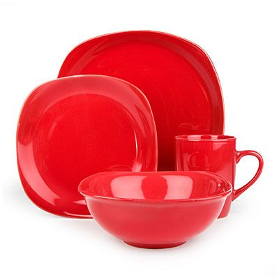 Brighten up your table with this trendy style. Great Gatherings® Square Red Dinnerware Set at Big Lots.  sc 1 st  Pinterest & Brighten up your table with this trendy style. Great Gatherings ...