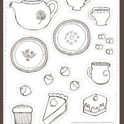 printable tea party coloring page - Princess Tea Party Coloring Pages