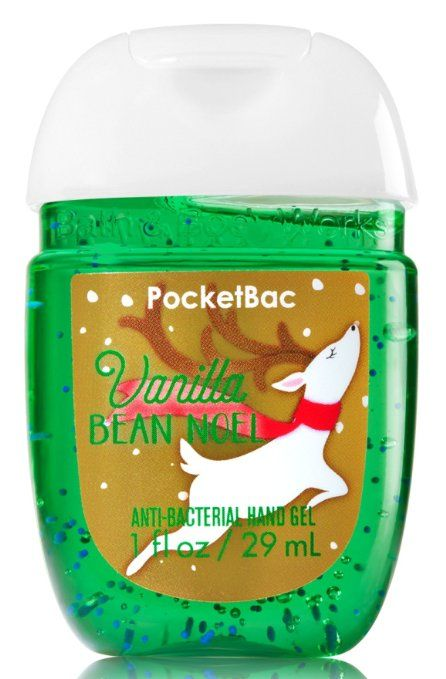 Bath Body Works Pocketbac Hand Gel Sanitizer Vanilla Bean Noel