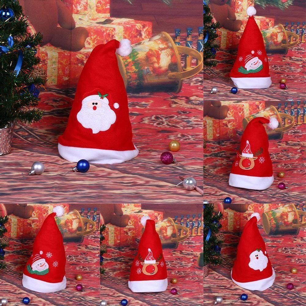 Santa Xmas Costume Hats Stars Christmas Hat Snowflake Snowman