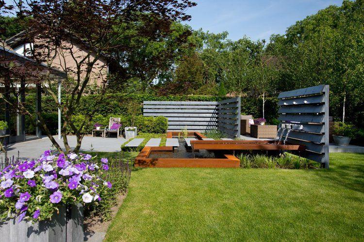 Siebers-tuinprojecten-vijver-strak-modern-tuin-vijver-staptegels ...