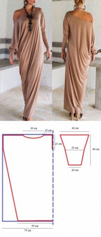 Patrones de vestidos #costura #moldes #coser | diy: simple sewing ...