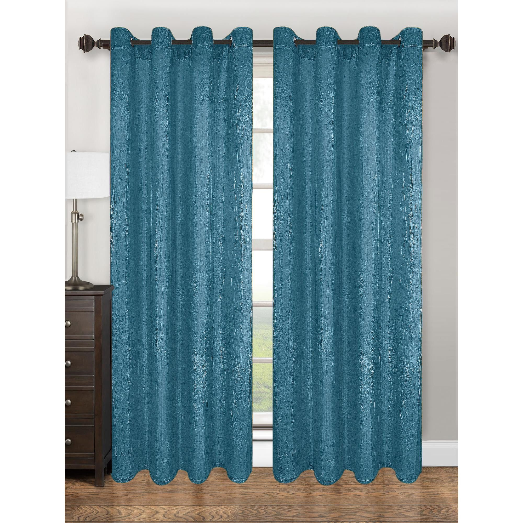 Kashi home claire x crushed taffeta with grommet top curtain