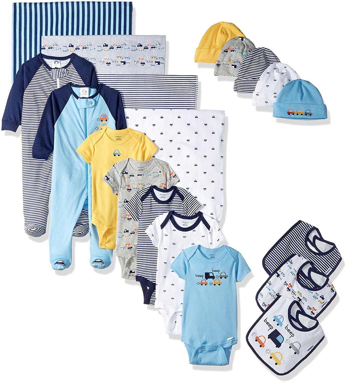 54 gerber baby boys 19 piece essentials gift