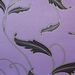 Royal Leaf Purple Floral