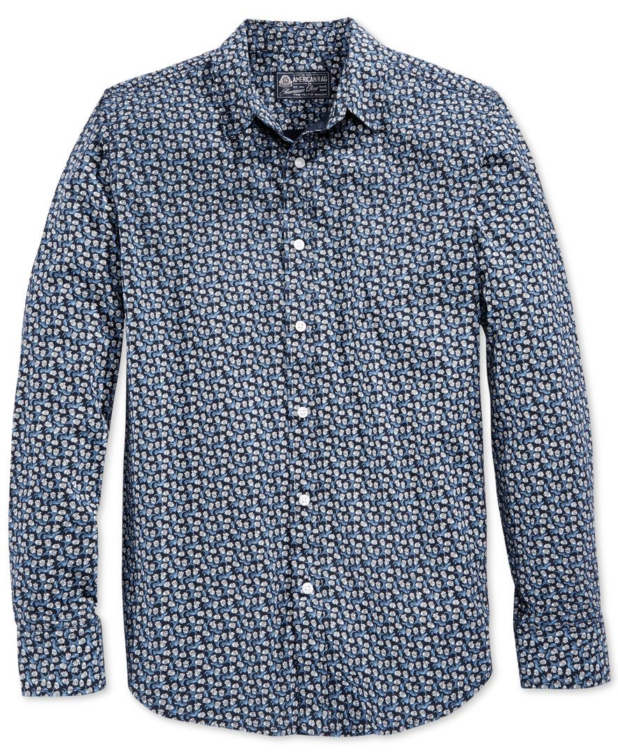 American Rag Men's Mini Floral-Print Shirt, Only at Macy's
